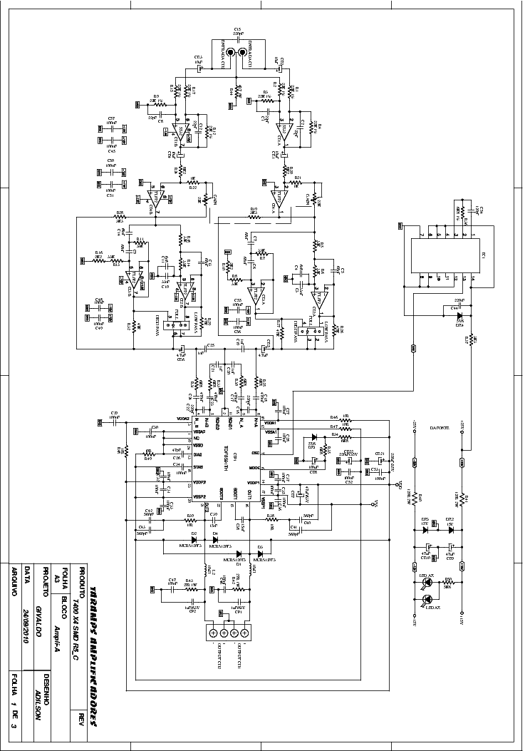 Taramps T400 X4 Smd R5 C Sch Service Manual Download Schematics