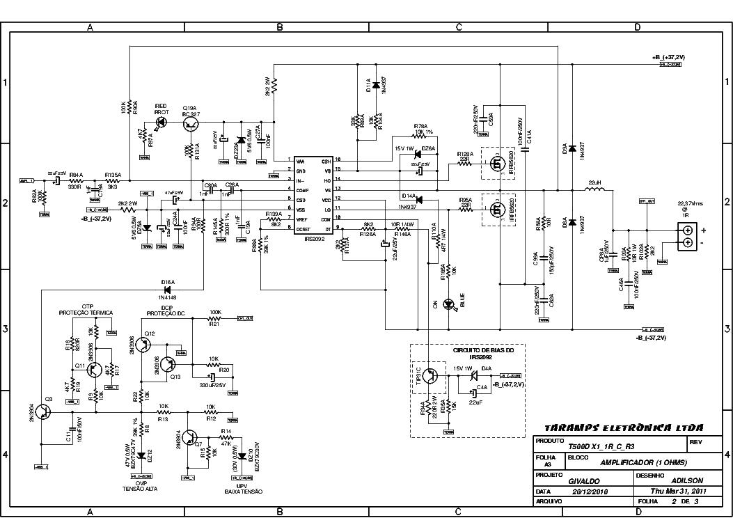 Taramps T500d X1 R3 Sch Service Manual Download