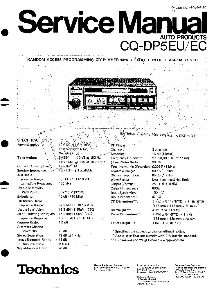 technics rs tr373 service manual