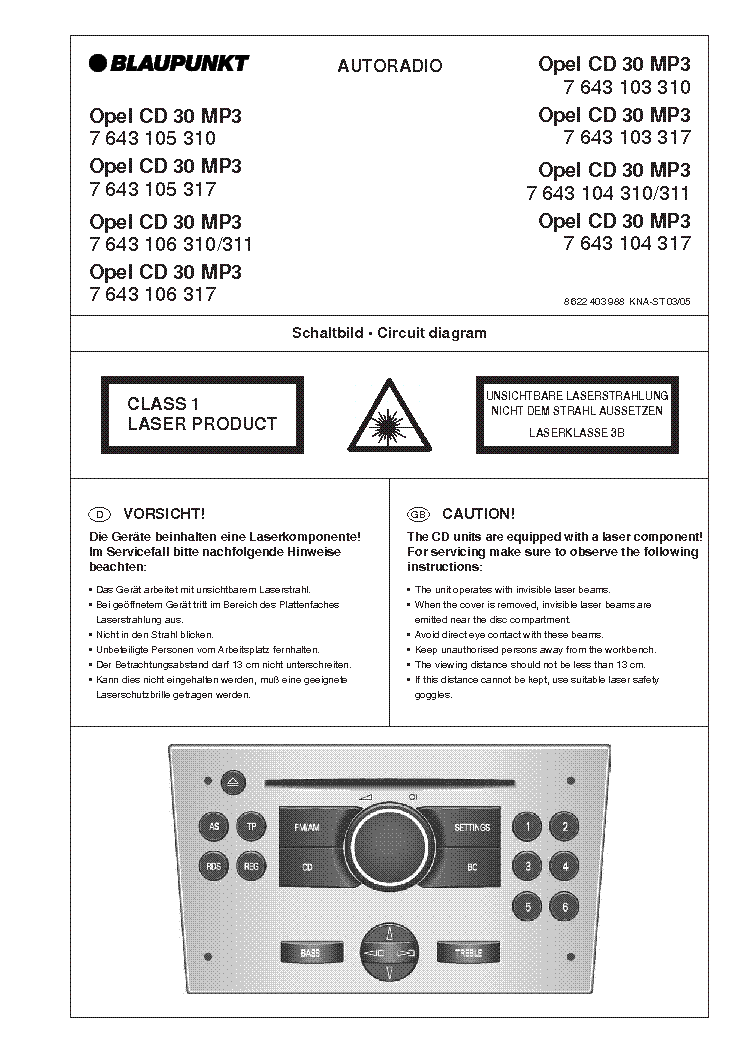 blaupunkt_cd30_mp3_opel.pdf_1 cd30 mp3 wiring diagram pinout diagrams \u2022 wiring diagrams j blaupunkt wiring harness at bayanpartner.co