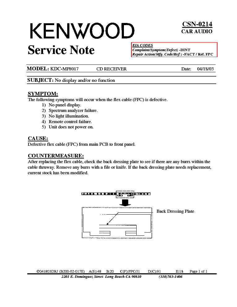 kenwood kdcmp csn info service manual free download, wiring diagram