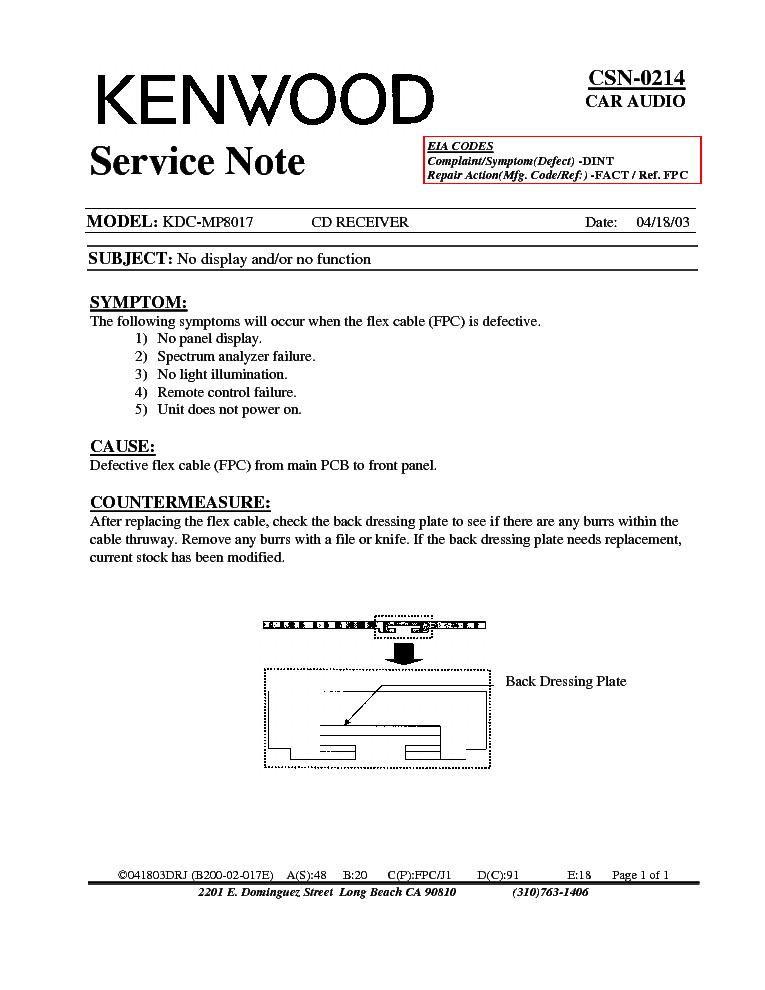 kenwood kdcmp csn info service manual free download, wiring diagram