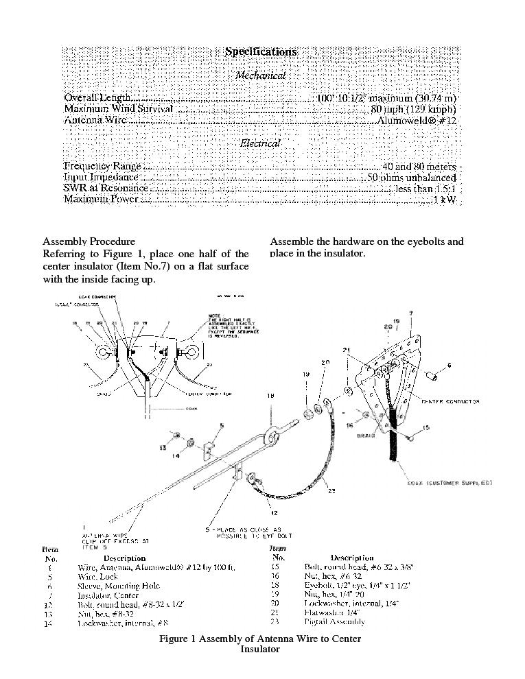 Hy Gain 2bdq S Trap Dipole Antenna Service Manual Download