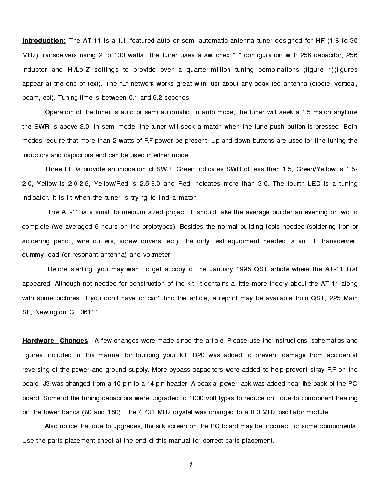 LDG AT-11 SM Service Manual download, schematics, eeprom