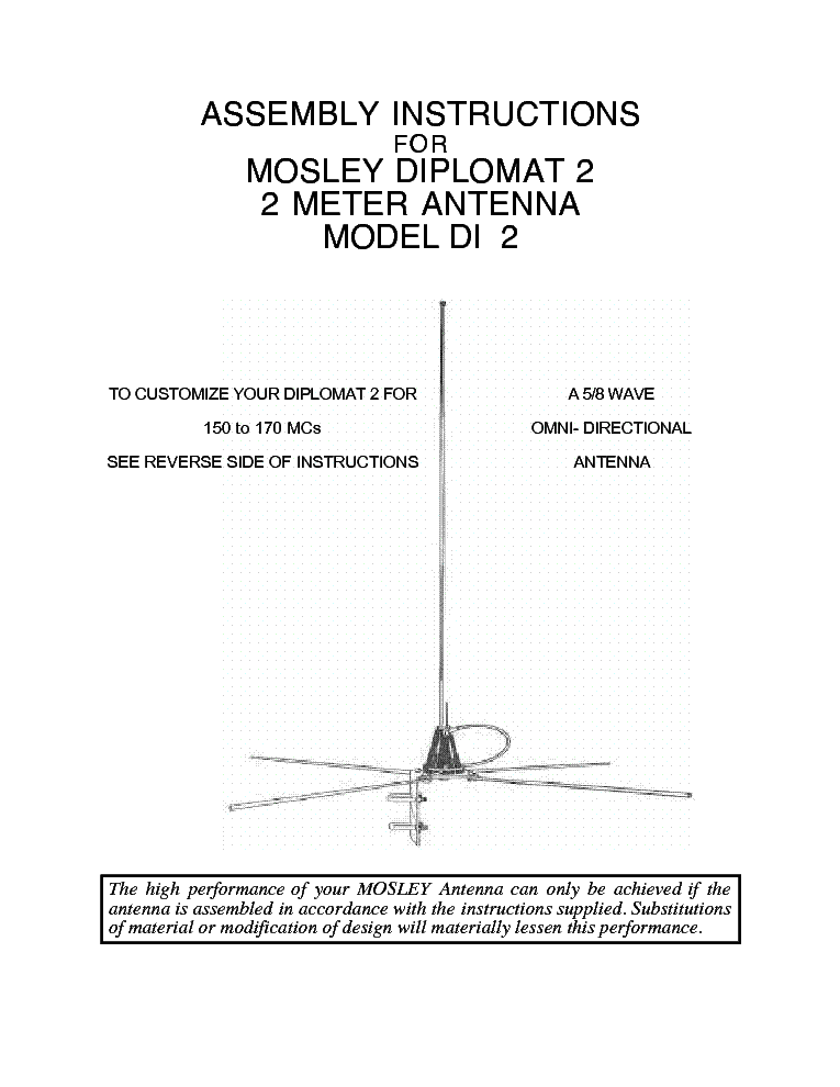Mosley Antennas Price List