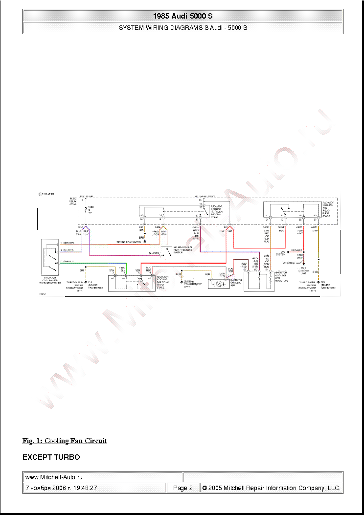 AUDI 5000 S 1985 WIRING DIAGRAMS SCH Service Manual download, schematics,  eeprom, repair info for electronics expertsElektrotanya