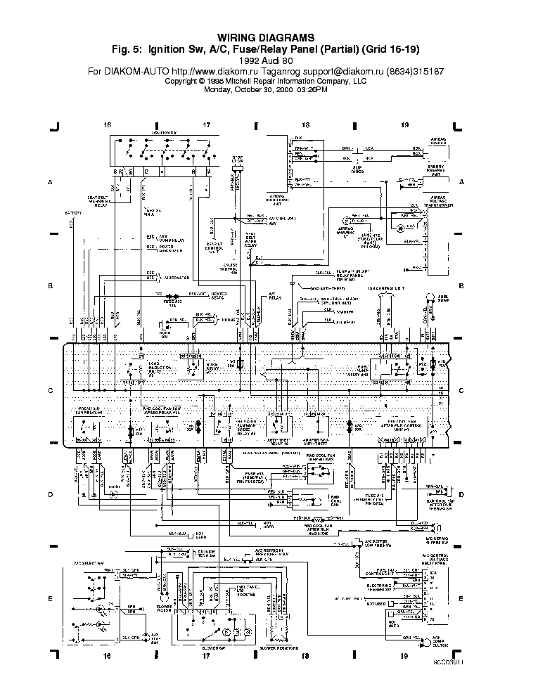 Audi 80 Ac Rellepanel Service Manual Download  Schematics