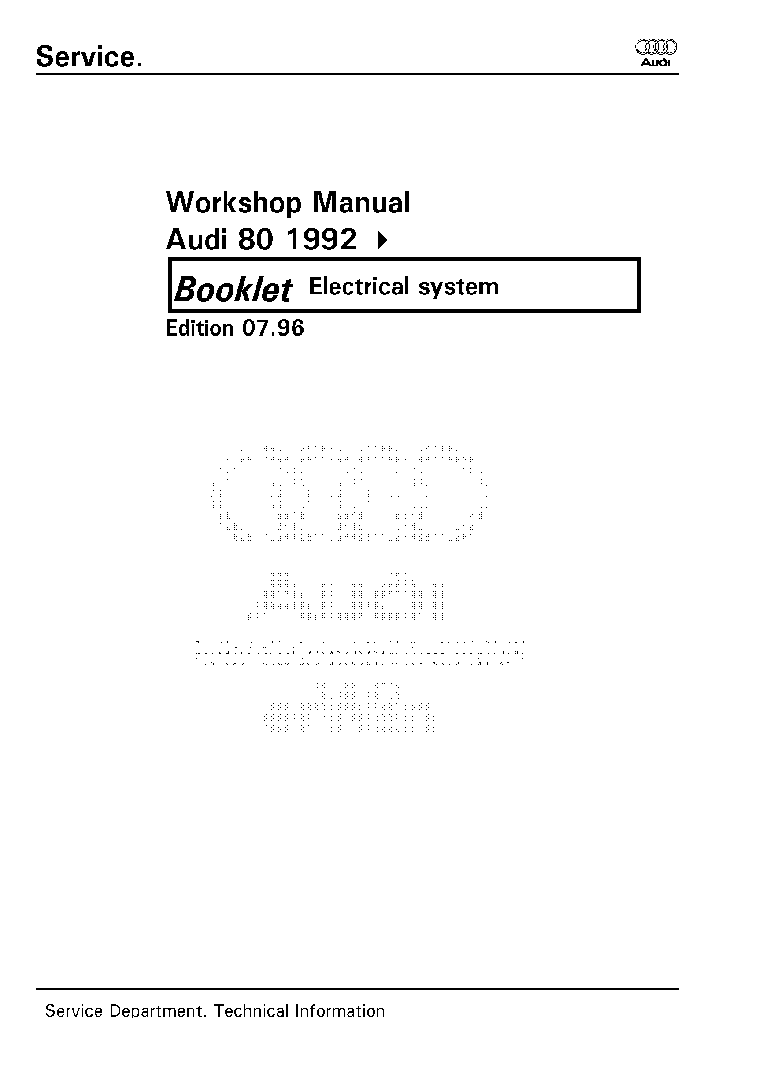 AUDI 80 B4 ELECTRICAL SYSTEMS service manual (1st page)