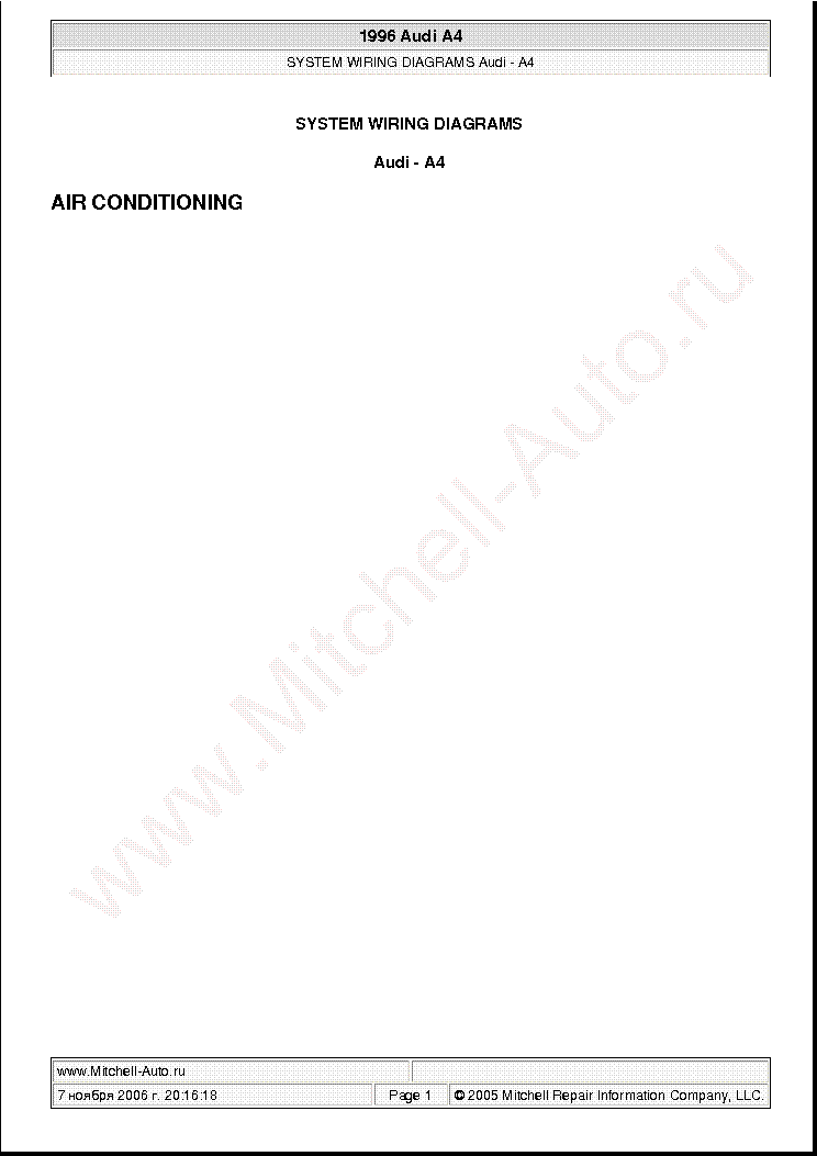 audi a4 1996 wiring diagrams sch service manual (1st page)