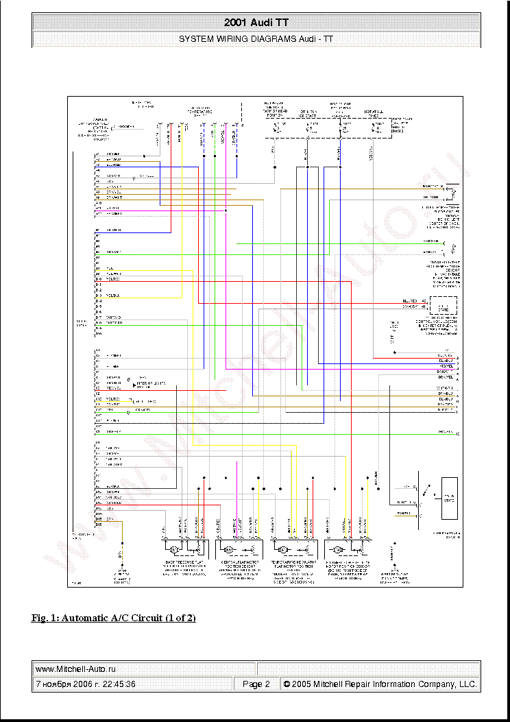 Audi Tt 2001 Wiring Diagrams Sch Service Manual Download
