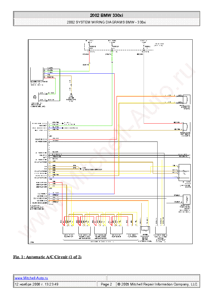 Bmw 330xi 2002 Wiring Diagrams Sch Service Manual Download