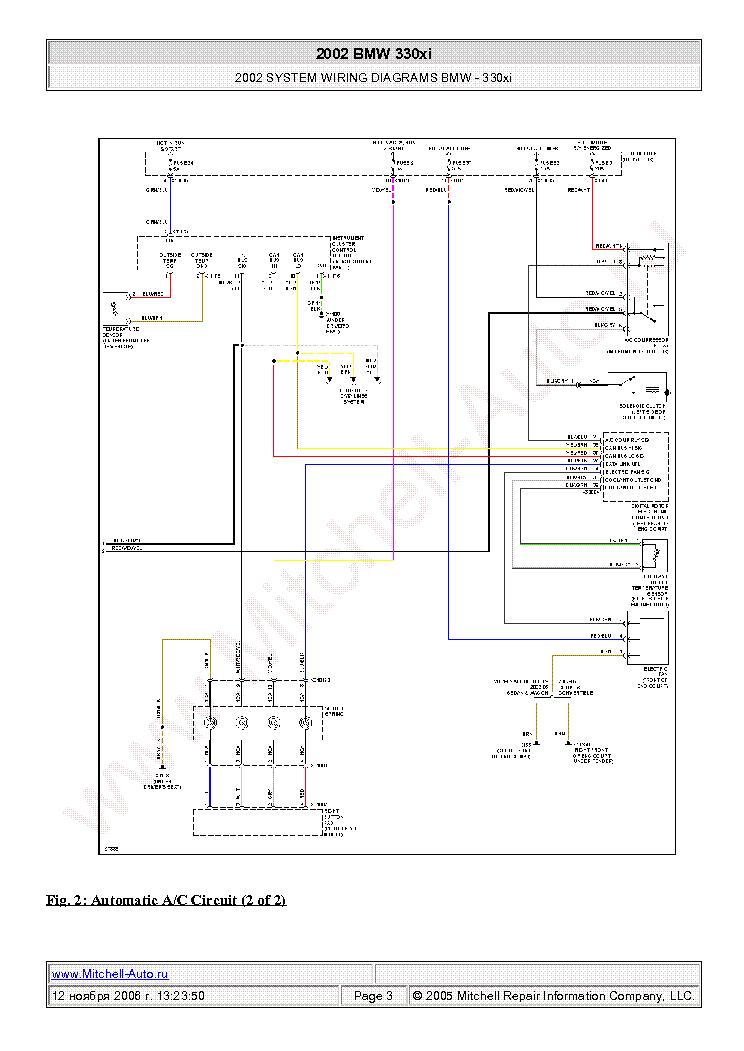 bmw 330xi 2002 wiring diagrams sch service manual (2nd page)