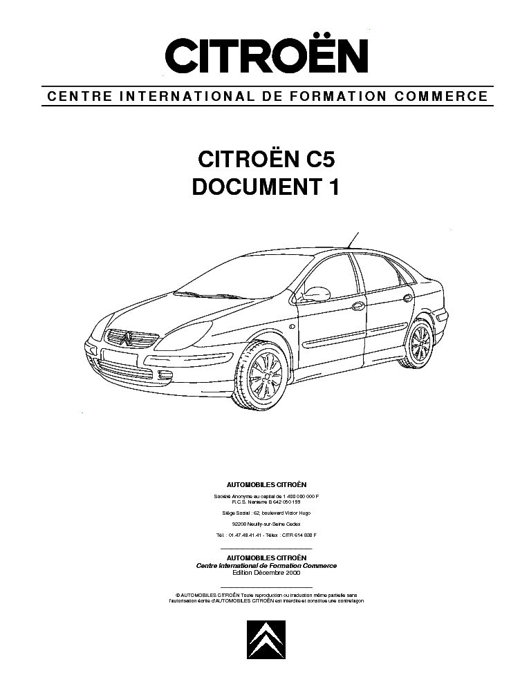 citroen c5 document 1 service manual download schematics eeprom rh elektrotanya com owners manual citroen c5 owners workshop manual citroen c5
