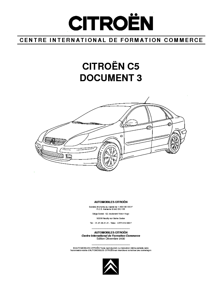 citroen c5 document 2 service manual download  schematics