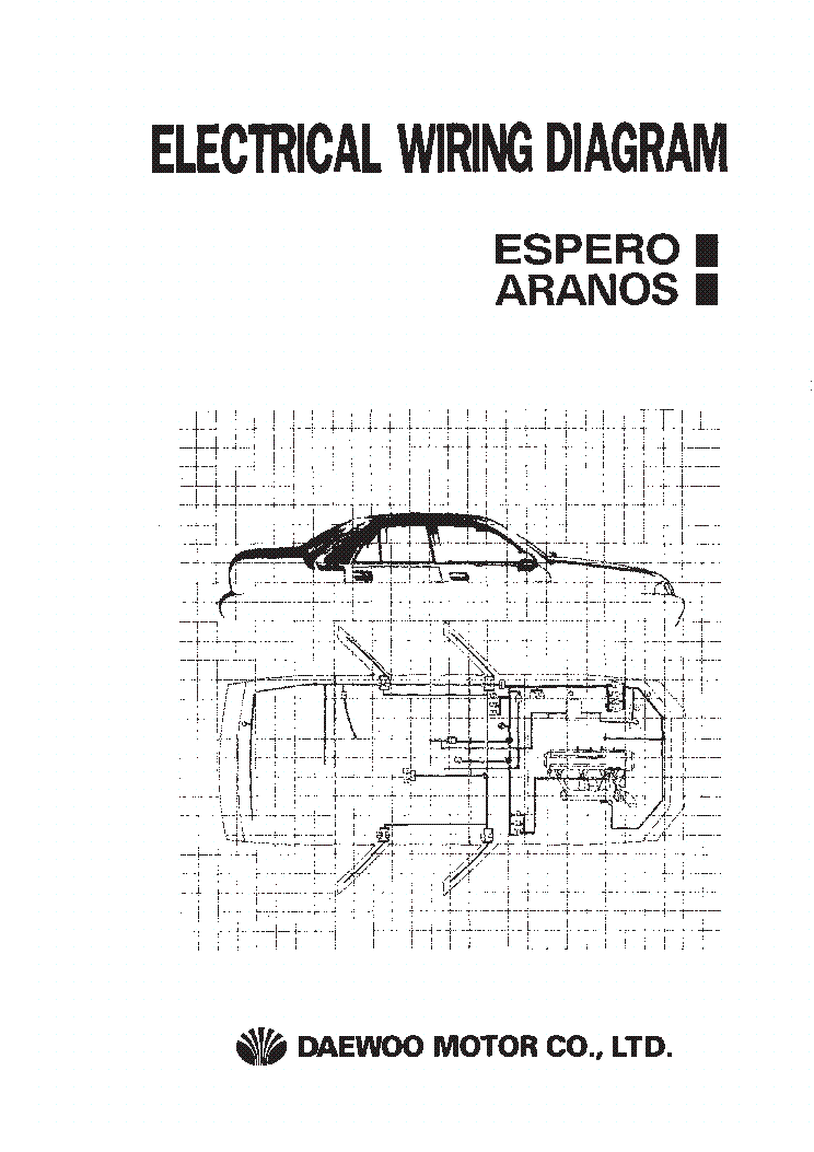 daewoo espero aranos electrical wiring diagram service manual download  schematics  eeprom