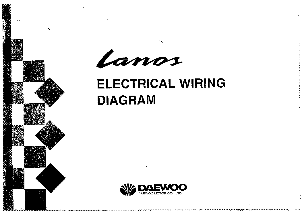 daewoo lanos electrical wiring diagram service manual 1st page