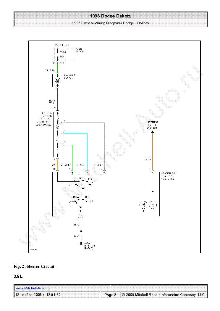 dodge dakota 1996 wiring diagrams sch service manual (2nd page)