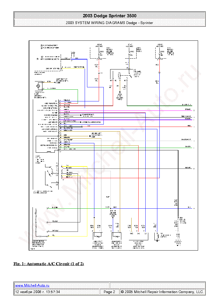 DODGE SPRINTER 3500 2003 WIRING DIAGRAMS SCH Service ...