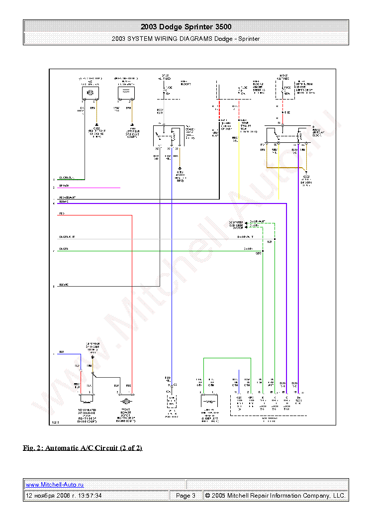 dodge sprinter 3500 2003 wiring diagrams sch service manual (2nd page)
