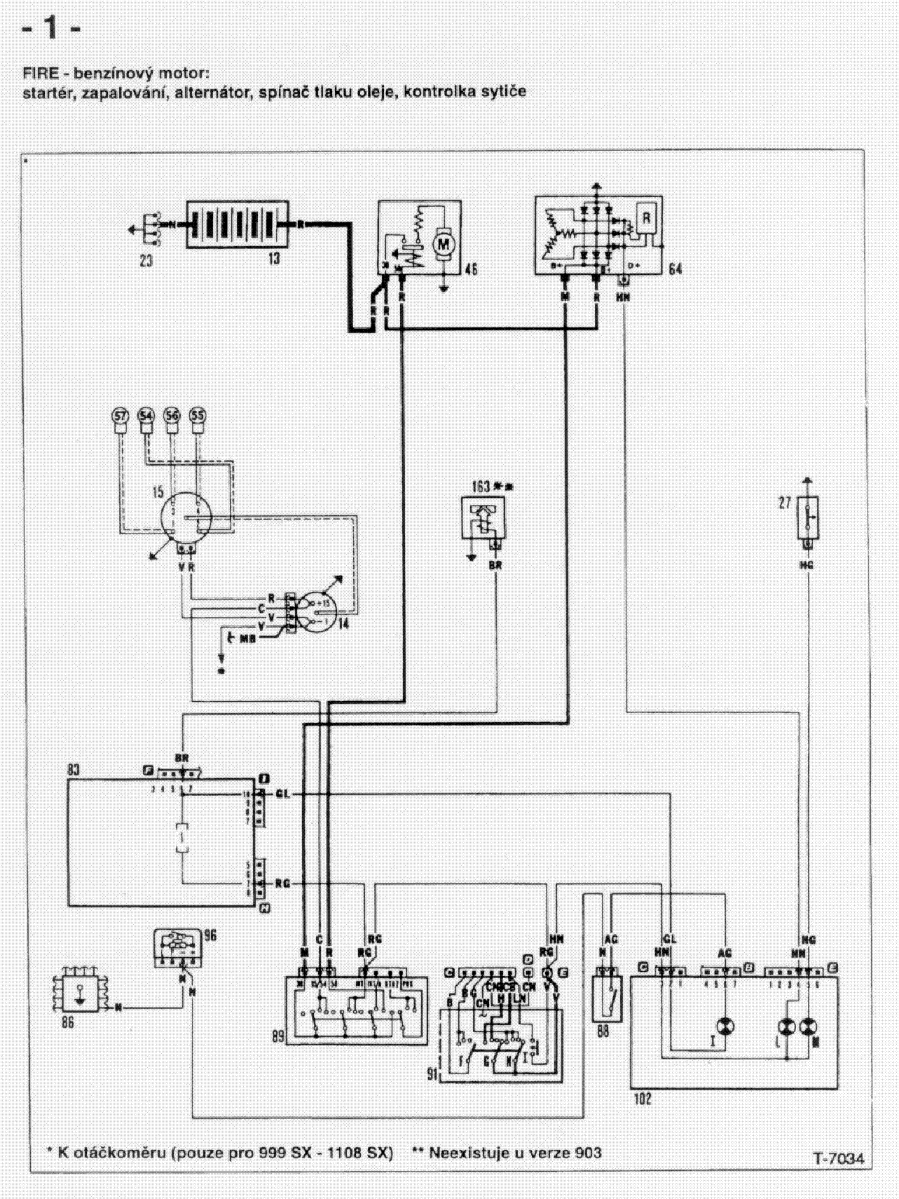 FIAT UNO WIRING DIAGRAM service manual (1st page)