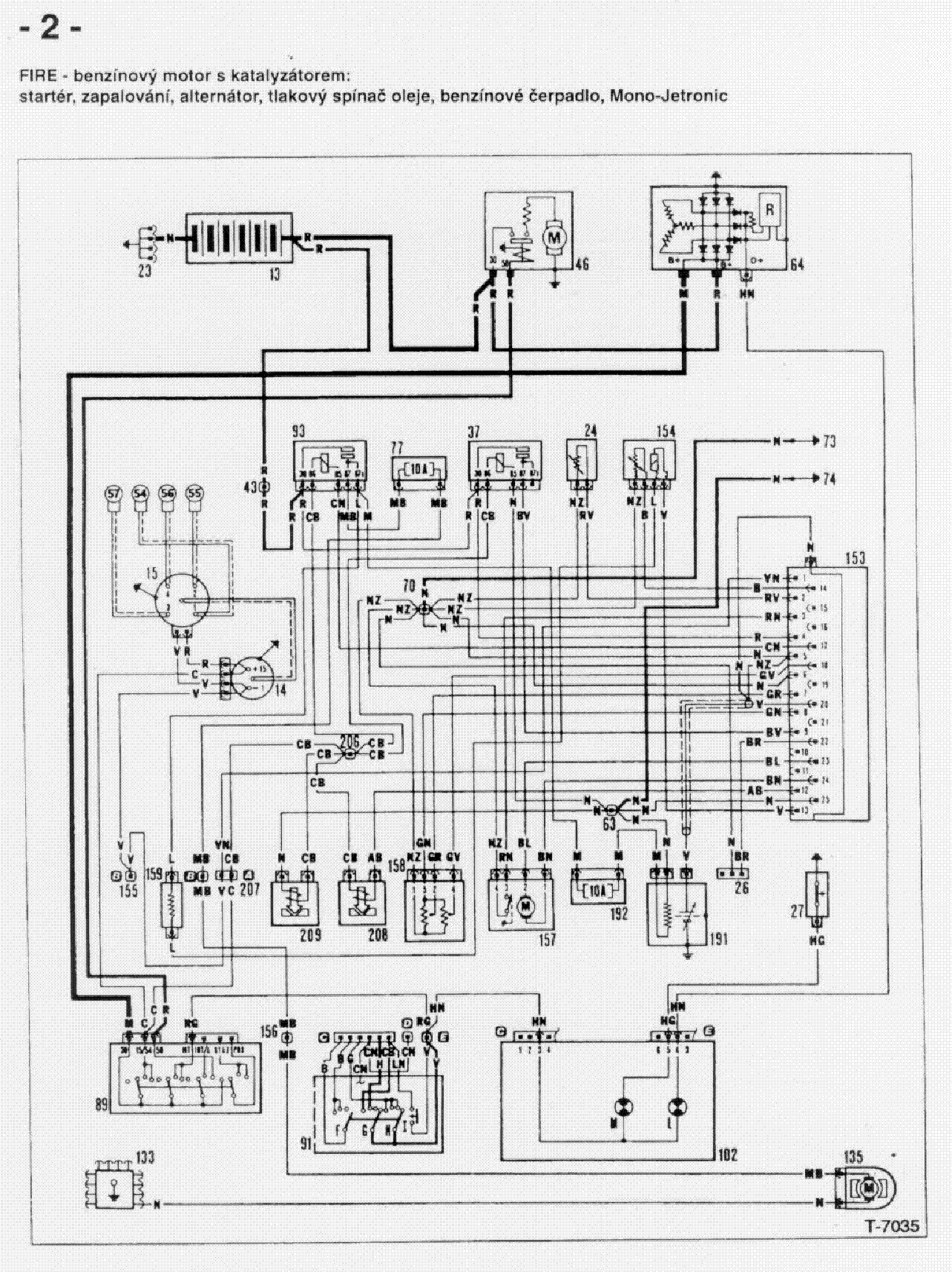 fiat uno wiring diagram service manual download, schematics, eeprom Fiat 500 Engine Diagram