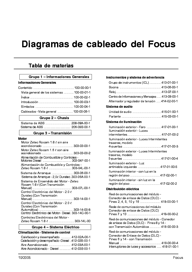 2000 Ford Focus - Owner s Manual (280 pages)