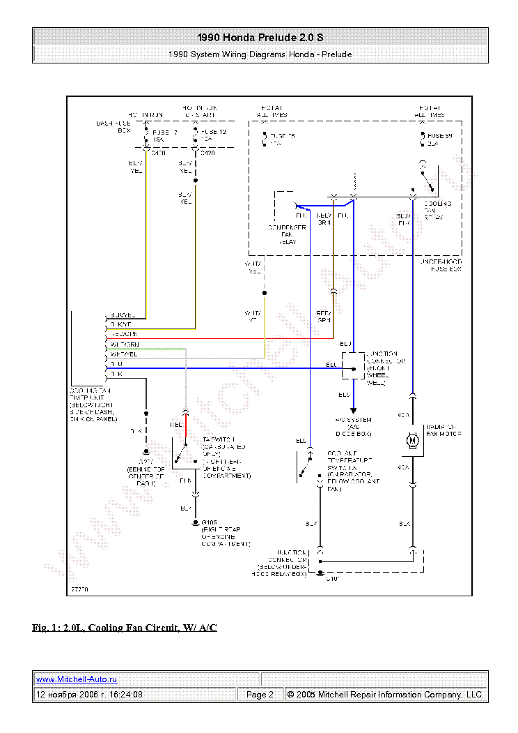 Wiring Diagram 1981 Prelude