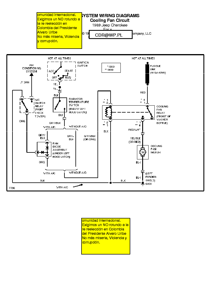 jeep cherokee 1989 wiring diagrams service manual download rh elektrotanya com