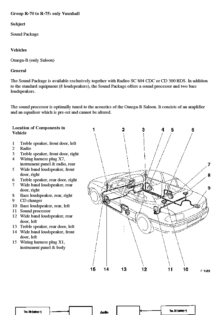 OPEL    OMEGA   B    AUDIO SYSTEM    WIRING    Service Manual download  schematics  eeprom  repair info for