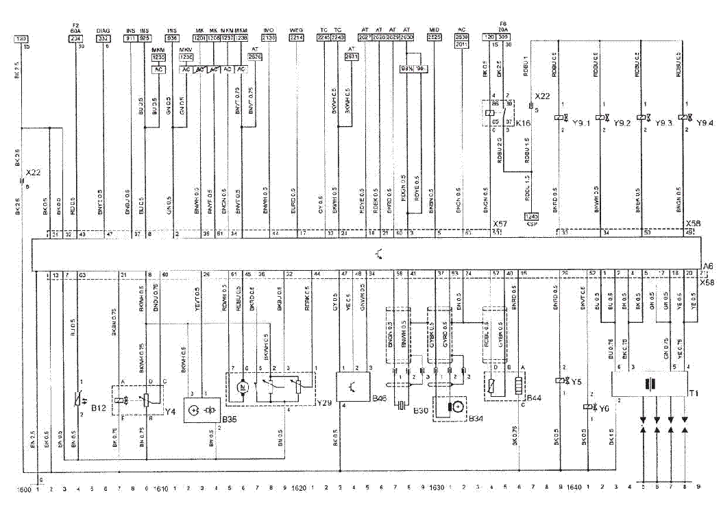 opel zafira 2001 wiring diagram opel zafira x18xe1 ecu sch service manual download ...
