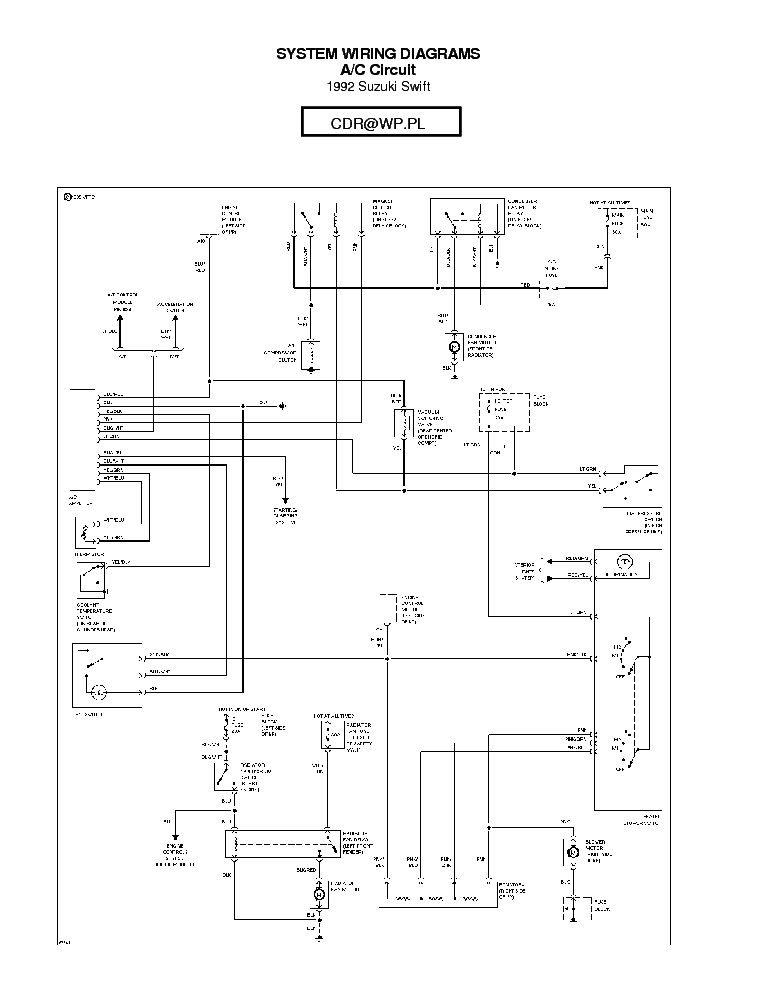 Suzuki Swift 1992 Sch Service Manual Download  Schematics