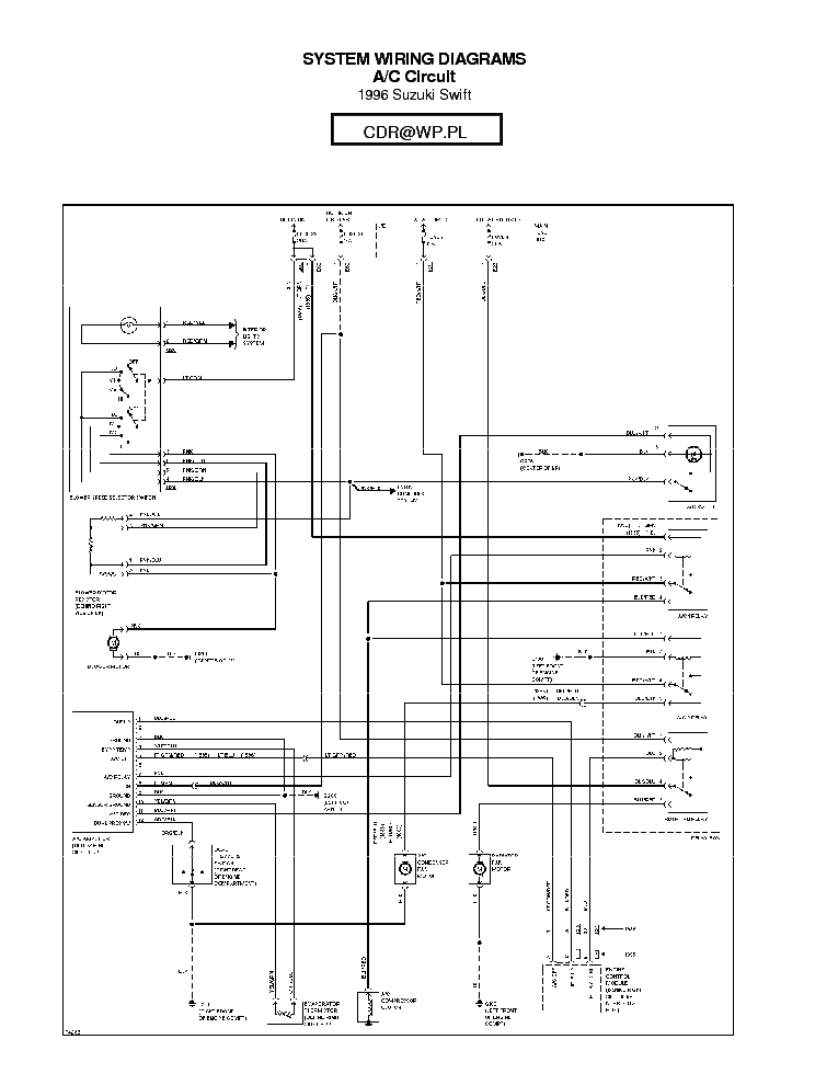 Suzuki Swift 1996 Sch Service Manual Download  Schematics  Eeprom  Repair Info For Electronics