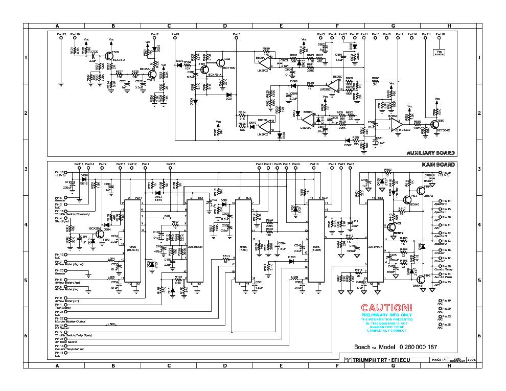 TRIUMPH TR7-EFI ECU SM Service Manual download, schematics, eeprom ...