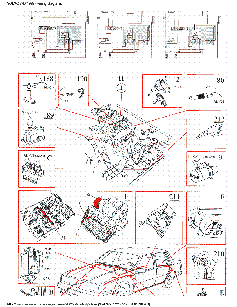 1989 Volvo 740 Wiring Diagram
