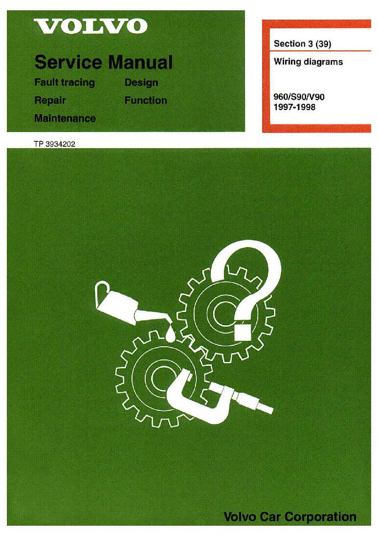 VOLVO 960 S90 V90 1997-98 SCH service manual (1st page)