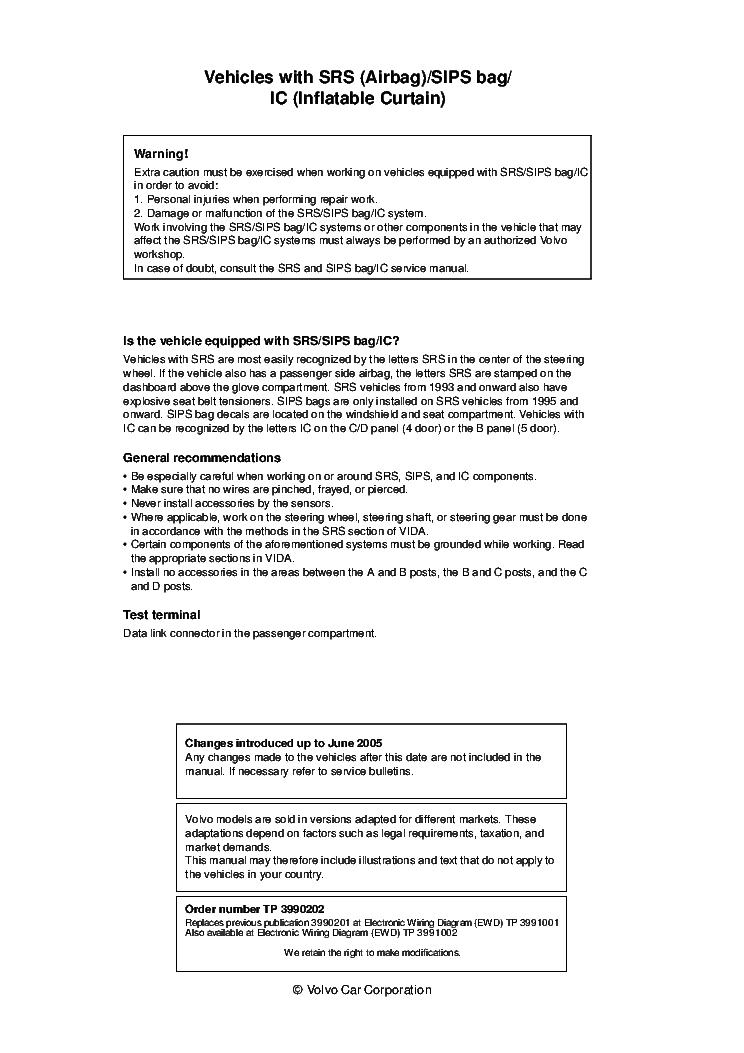 volvo s40 v50 2006 sch service manual (2nd page)