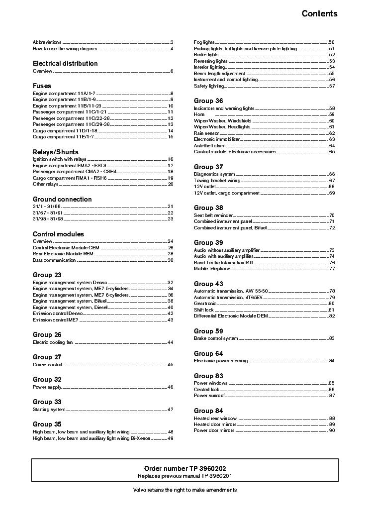 Volvo S60 S80 2002 Sch Service Manual Download  Schematics  Eeprom  Repair Info For Electronics