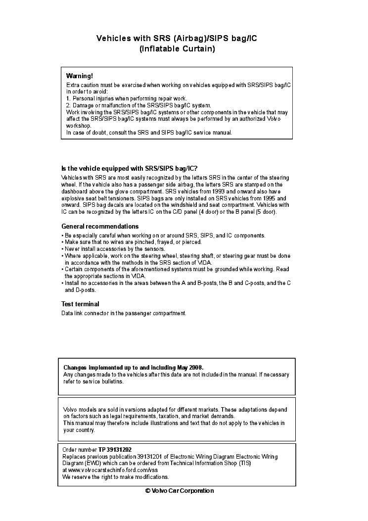 volvo xc90 2009 sch service manual (2nd page)