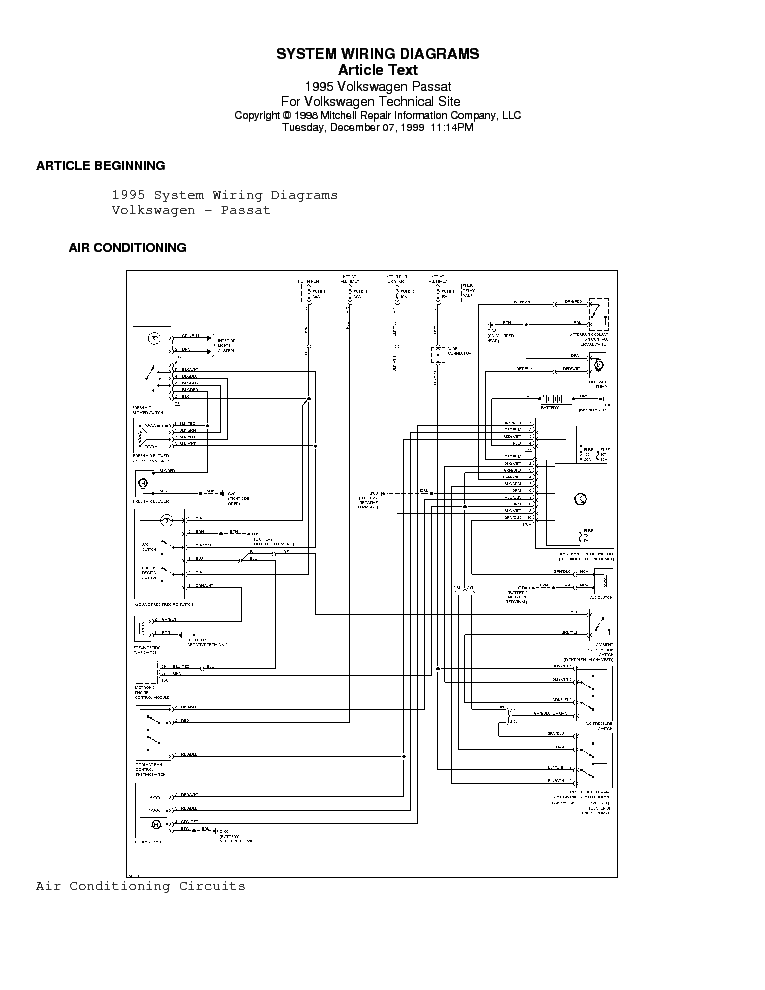 vw passat 1995 wiring diagram service manual download ... vw wiring diagrams free