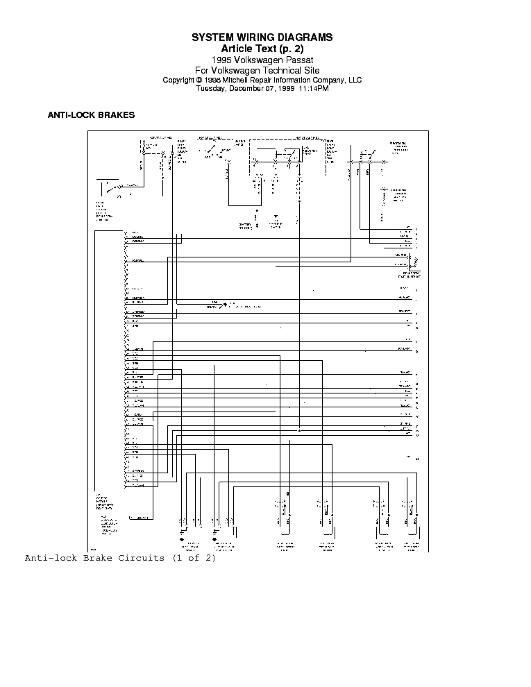VW PAT 1995 WIRING DIAGRAM Service Manual download ... Vw Wiring Diagrams Free Downloads on vw bus engine diagram, vw pick up wiring diagrams, vw bug wiring-diagram,