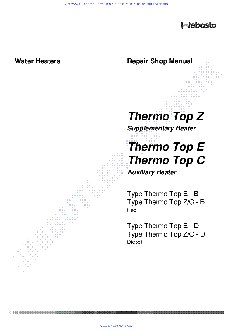 webasto heater thermo top c workshop manual service manual download rh elektrotanya com Webasto Diesel Heater webasto heater repair service manual