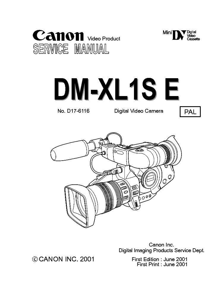 canon dm xl1s servmanual service manual download schematics eeprom rh elektrotanya com canon xl1 manual español pdf canon xl1s service manual pdf