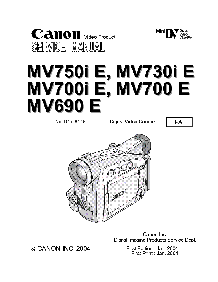 Canon MV700 Brugermanual |