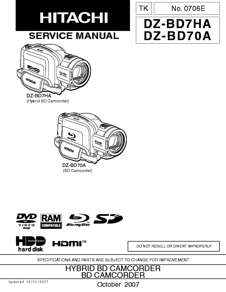 hitachi vm e 230 338 438 e service manual download schematics rh elektrotanya com