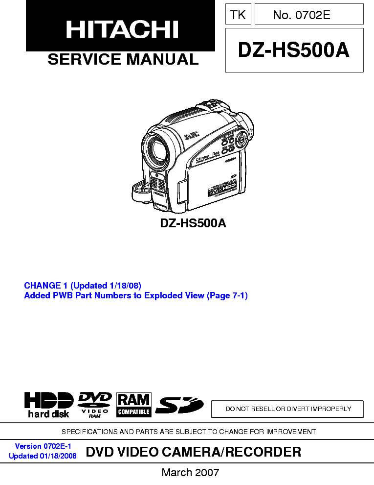 hitachi vm 2250a u c sm technical data service manual download rh elektrotanya com