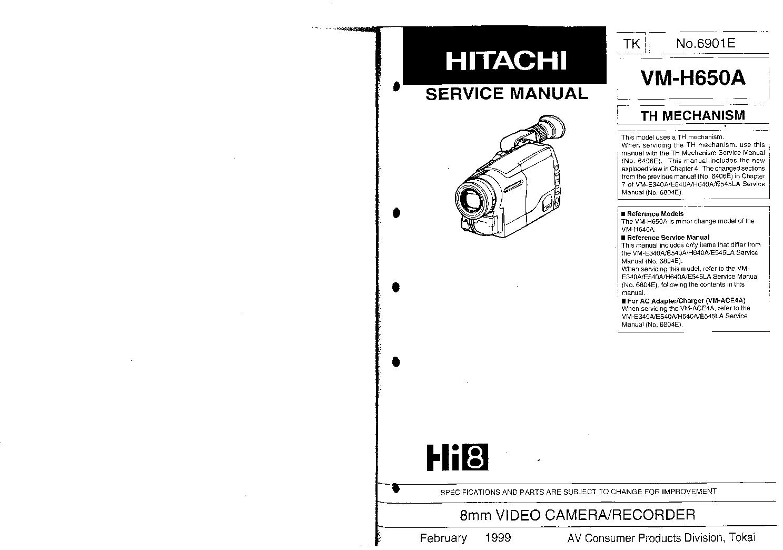 hitachi vm h650a service manual download schematics eeprom repair rh elektrotanya com hitachi vm-d865la manual hitachi vm-h37e manual