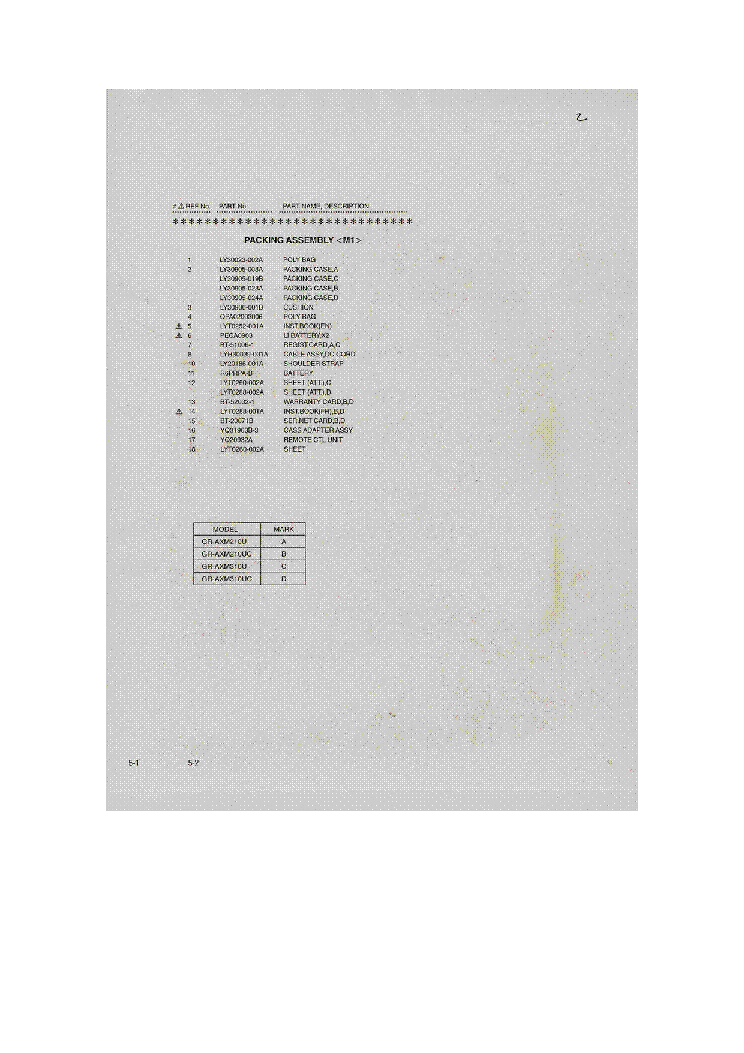 JVC GR-AXM310 PARTS service manual (2nd page)