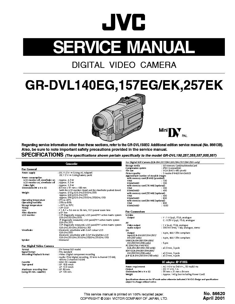 jvc camcorder instruction manual