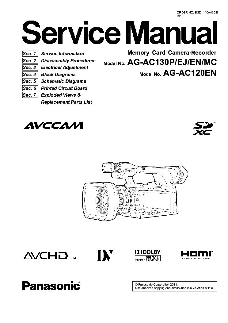 PANASONIC AG AC7 BAIXAR MANUAL