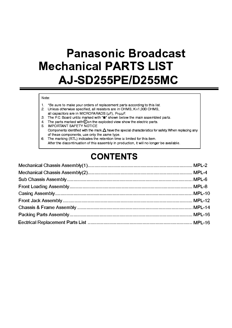 PANASONIC SD OPERATING INSTRUCTIONS AND RECIPES Pdf Download
